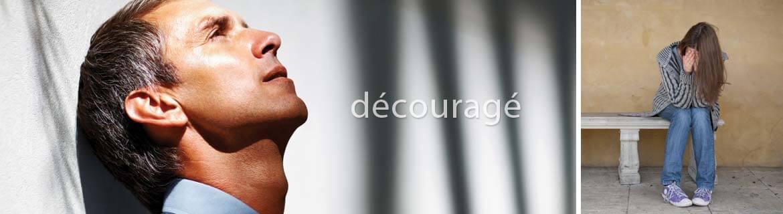 Psychologue et découragement